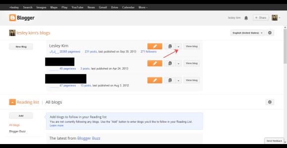 Blogger  Blogger Dashboard