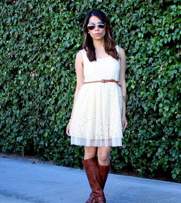 dress with boots