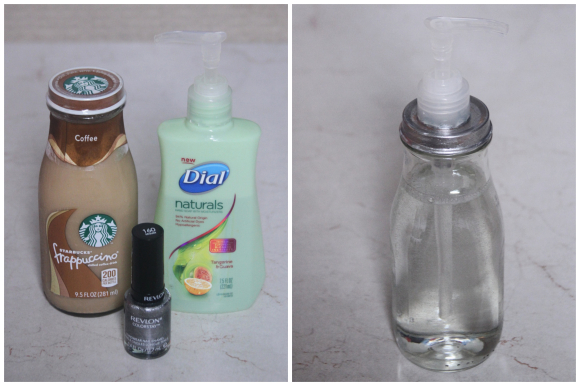 upcycle a Starbucks bottle