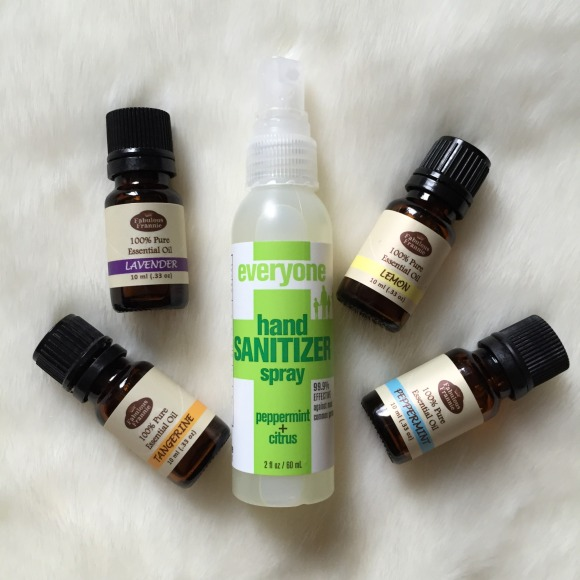 DIY Peppermint and Citrus Hand sanitizer