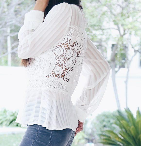 lace peplum blouse