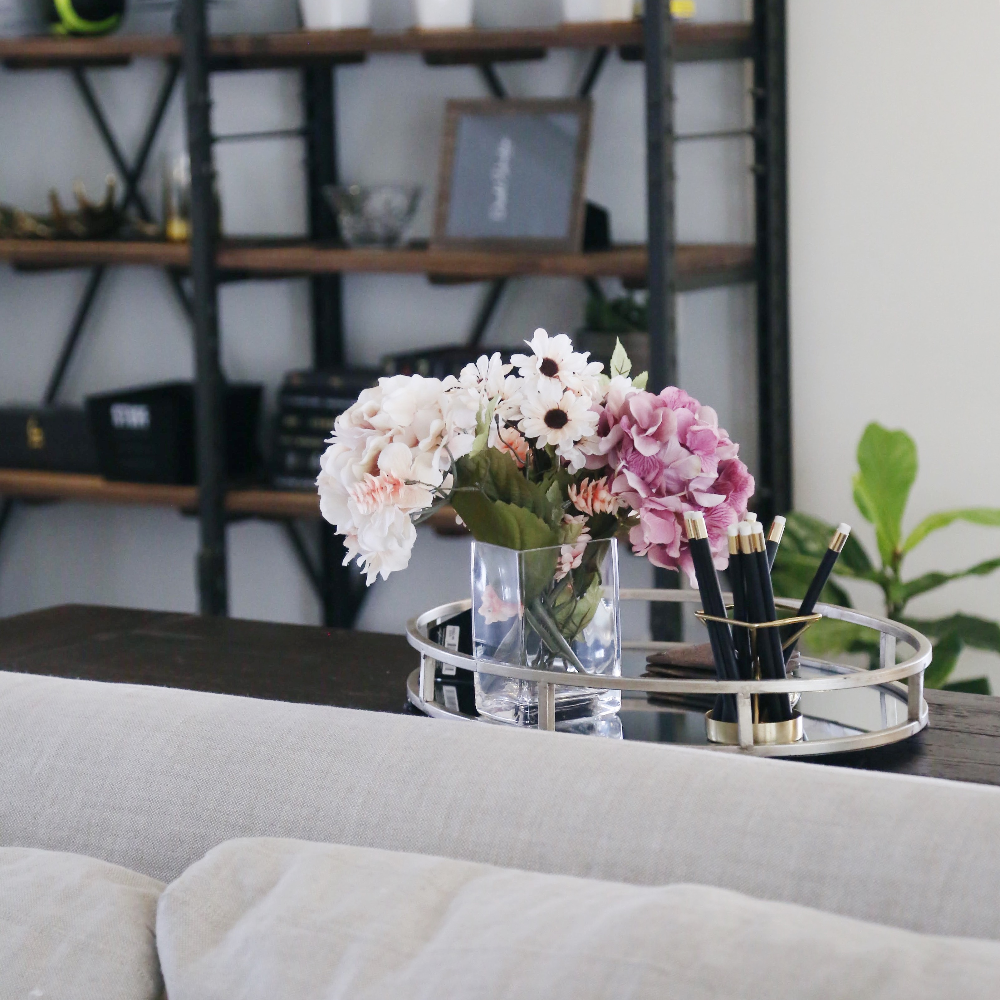 Faux flowers for the home